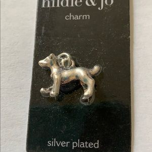 3/$10 NWT silver plated dog charm